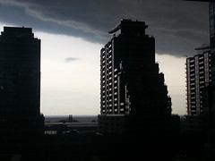 Storm rolling into Liberty Village