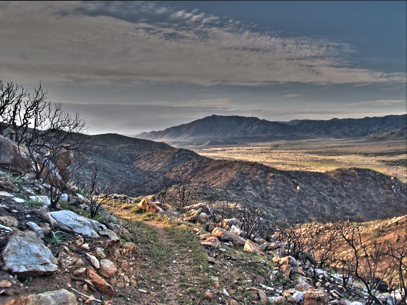 PCT San Felipe Hills - HDR shot of sunrise and Granite Mountain