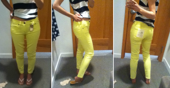 J.Crew Factory garment-dyed skinny jean