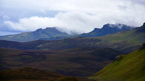 nature clouds landscape scotland highlands view isleofskye scenic hills trotternish nikond7000