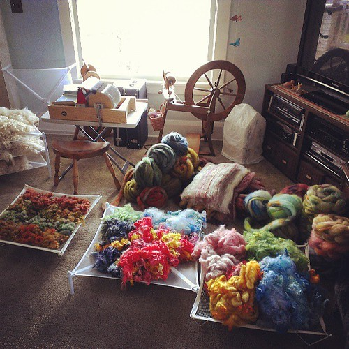 The chaos I force upon everyone else. Woolly explosion!