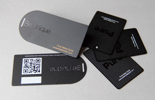 Pure Metal Cards Metal Hang Tag and Price Tag
