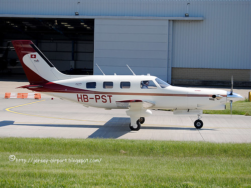 HB-PST Piper PA-46-350P Malibu Mirage DLX by Jersey Airport Photography