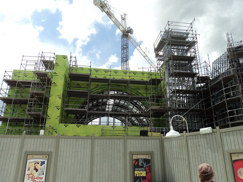 Diagon Alley construction at Universal Studios Florida