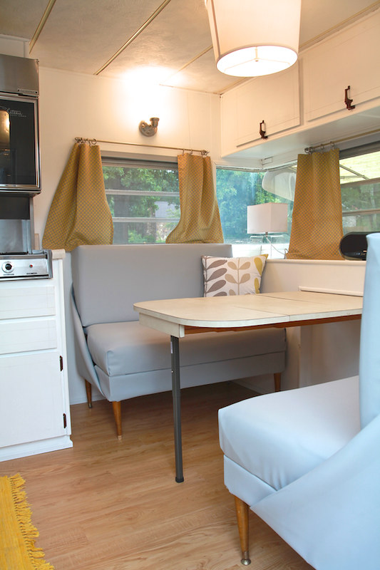 Vintage Camper turned Glamper - DIY Renovation - The Noshery