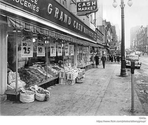 B. Lodge (Lodges)  and Grand Cash Market  North pearl albany ny 1940s