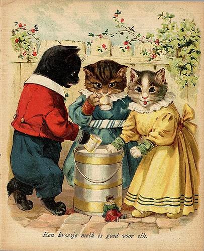 014- De drie katjes -1905-© Royal Library - Biblioteca Nacional de los Países Bajos