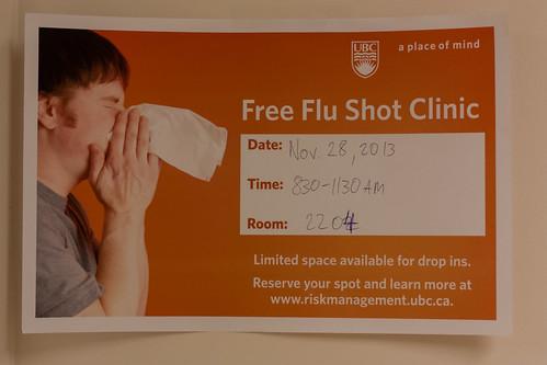 UBC Risk Management Services Flu Shot Clinic