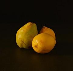 citrus, yellow, pear, macro photography, produce, fruit, food, still life photography, still life,