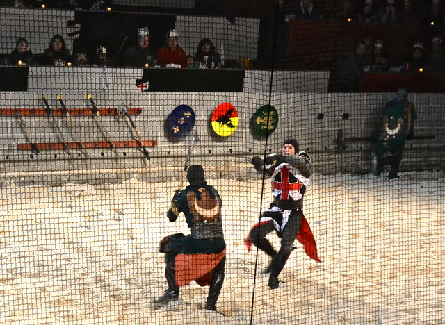 Medieval  Times Orlando Florida - fierce sword fighting