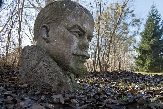 Left over of a Lenin memorial - gives evidence of a carried out social experiment with a half-cooked idea. I would be interested in to hear his analysis to the situation today.