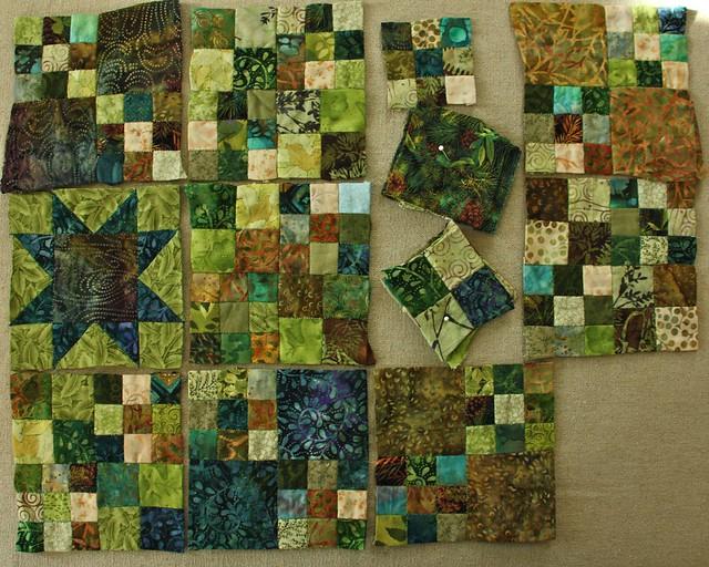 Woodland Quilt WIP