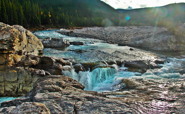 Looking Down Into Elbow Falls