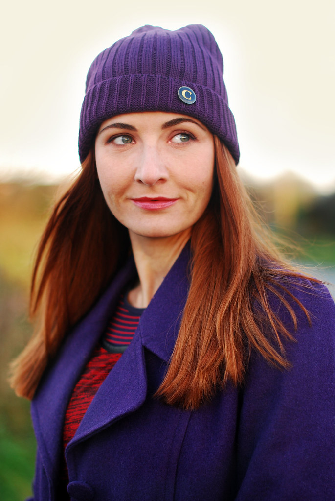 Purple beanie & coat