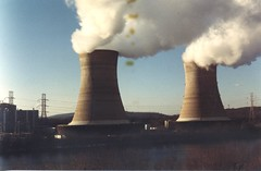 pollution, industry, cooling tower, electricity, power station, nuclear power plant,