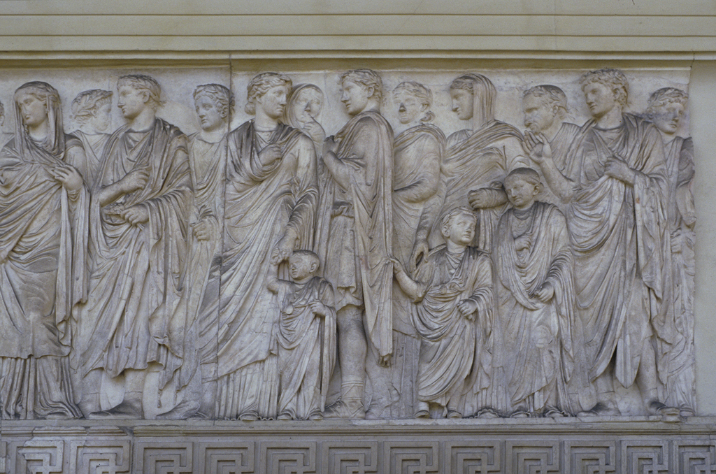 Sacrificial Procession Relief From The Ara Pacis Augustae