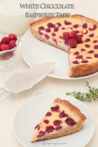White Chocolate & Raspberry Tart