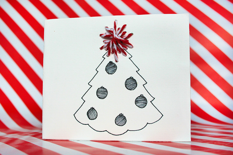 Christmas cards - Christmas tree design