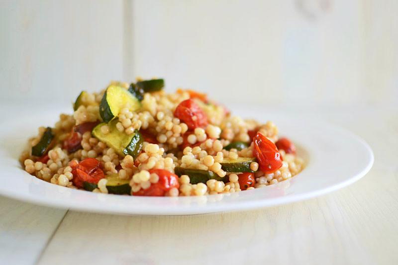 Israeli Couscous with Roasted Vegetables via LittleFerraroKitchen.com