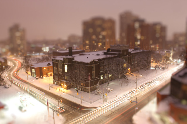 Snowy Rosy Evening at Toy-ronto