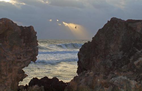 sun clouds sunrise rocks day florida cloudy stuart peek rays houseofrefuge hutchinsonisland