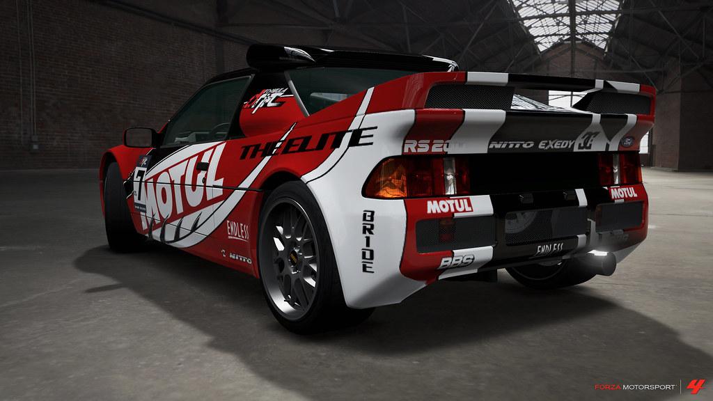 """Motul Oil"" RS200 rear"
