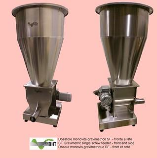 Dosatore monovite gravimetrico SF - fronte e lato