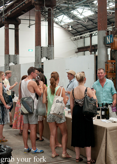 Tasting stalls at the Rootstock Sydney 2014 Wine Festival