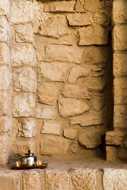 Tea set for restoration workers, Palace of Ardashir, Iran アルダシール宮殿、修復職人さんのチャイセット