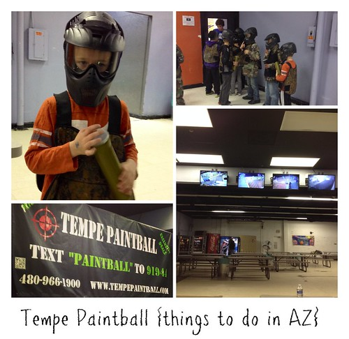 Tempe Paintball {things to do in AZ} - kids paintball