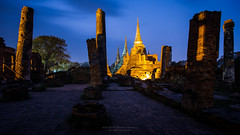 Phrasisanpetch Temple in Twilight Moment