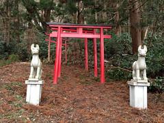 蠣崎神社入口