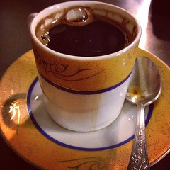 atole(0.0), caf㩠au lait(0.0), food(0.0), ristretto(0.0), masala chai(0.0), caff㨠macchiato(0.0), espresso(1.0), cup(1.0), coffee(1.0), coffee cup(1.0), turkish coffee(1.0), caff㨠americano(1.0), drink(1.0), caffeine(1.0),