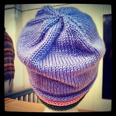 Back view #handknit #chemocap #Cascade #CherubAran #knitstagram #charityknitting @conniecaps #love