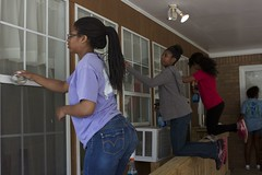 Teams of students performed service projects in 168 job sites throughout the community.