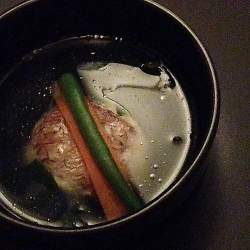 Poached Red Snapper, Japanese Seaweed, Delicate Fish Broth