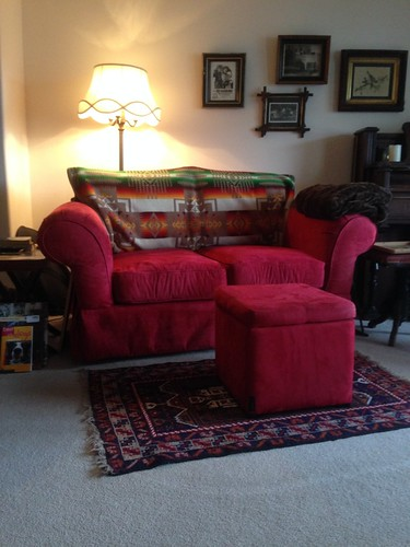 Red Loveseat Everlys