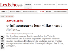 E influenceurs leur like vaut de l'or