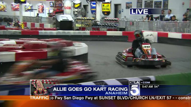 13608804214 88682b067b b KTLA 5   Allie Mac Kay Goes Go Kart Racing  The Ultimate Racing Experience