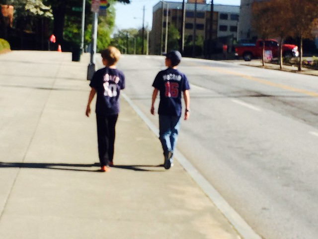 Walking to the game