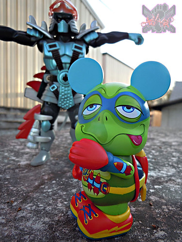 "Vinylmation ZOOPER HEROES :: 'ZIPPY THE ROCKET TURTLE' - DISNEY VINYL 3"" i ((  2013 ))"