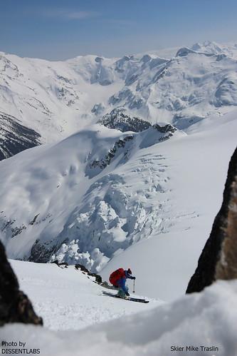 Spearhead Ski Traverse. ION binding. photo DISSENTLABS skier Mike Traslin