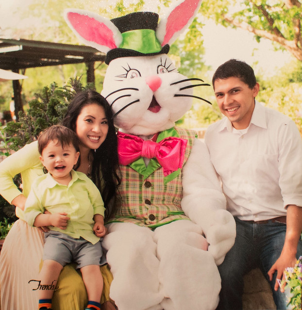 cute & little | easter 2014 | dallas arboretum easter bunny