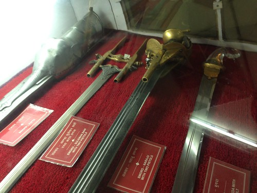 City Palace weapons -- including swords with built-in guns!