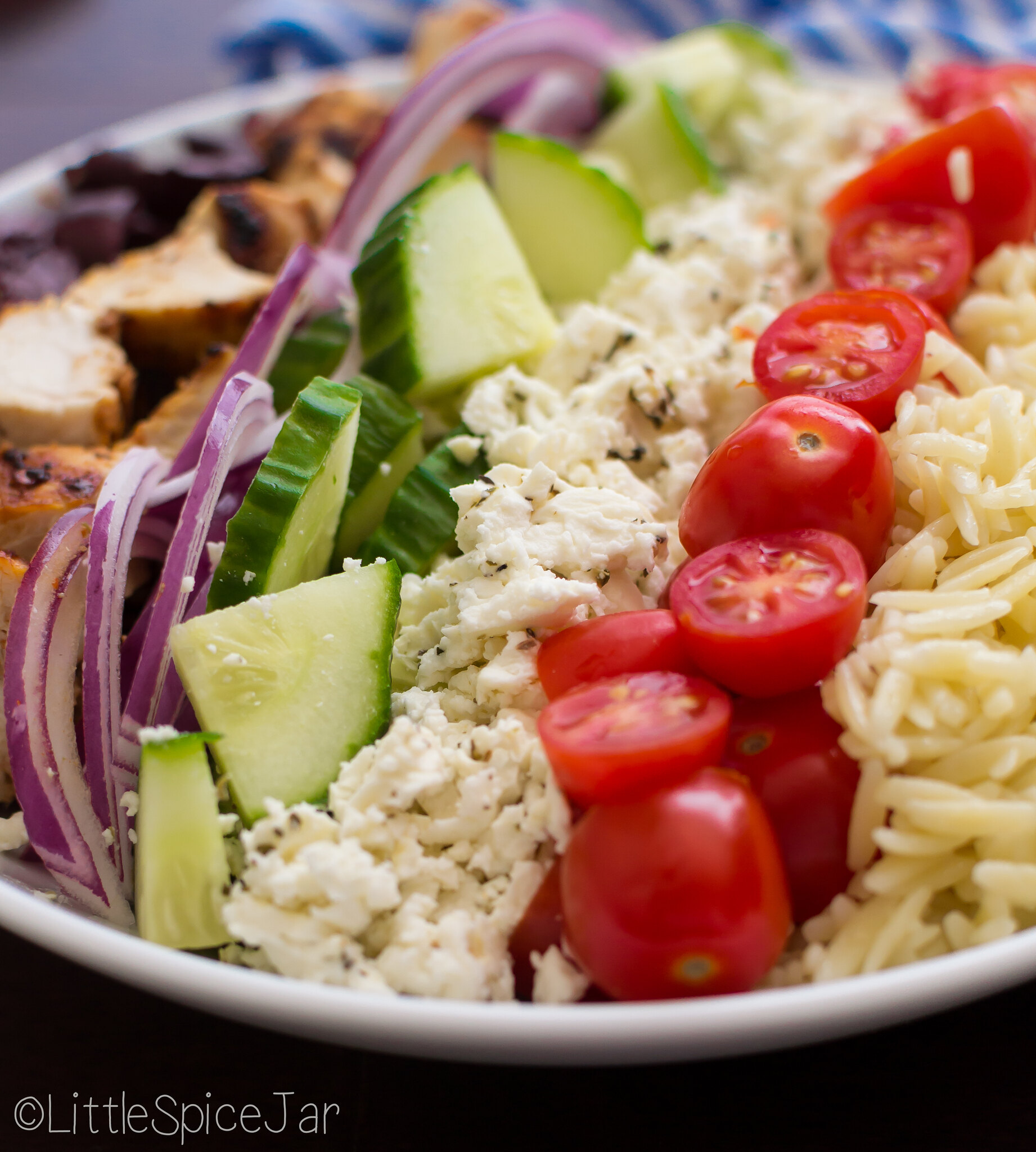 Greek Orzo Pasta Salad with Chicken 4