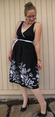 B&W Party Dress