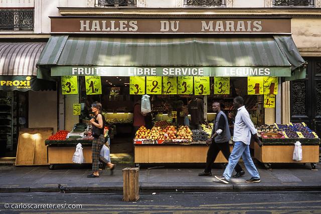 Marais - Rue des Francs Bougeois
