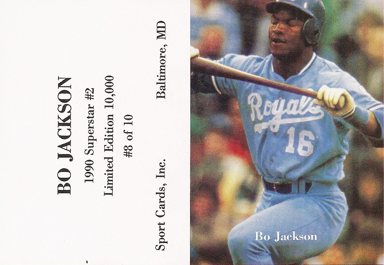 Bo Jackson Price List Supercollector Catalog