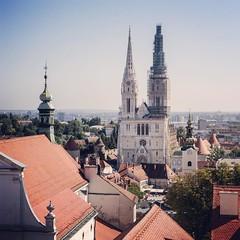 8월에 휴가를 떠나는 친구때문에 다시 들춰본 2013년 가을의 크로아티아 #Travel #Memories #Throwback #2013 #Autumn #Zagreb #Croatia 자그레브에서의 순간들 #Old #Town #Landscape #View #Cathedral #Steeple #Tower