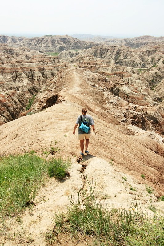 Walking at Badlands National Park